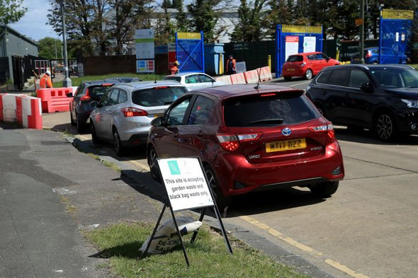 recycling centre traffic jams