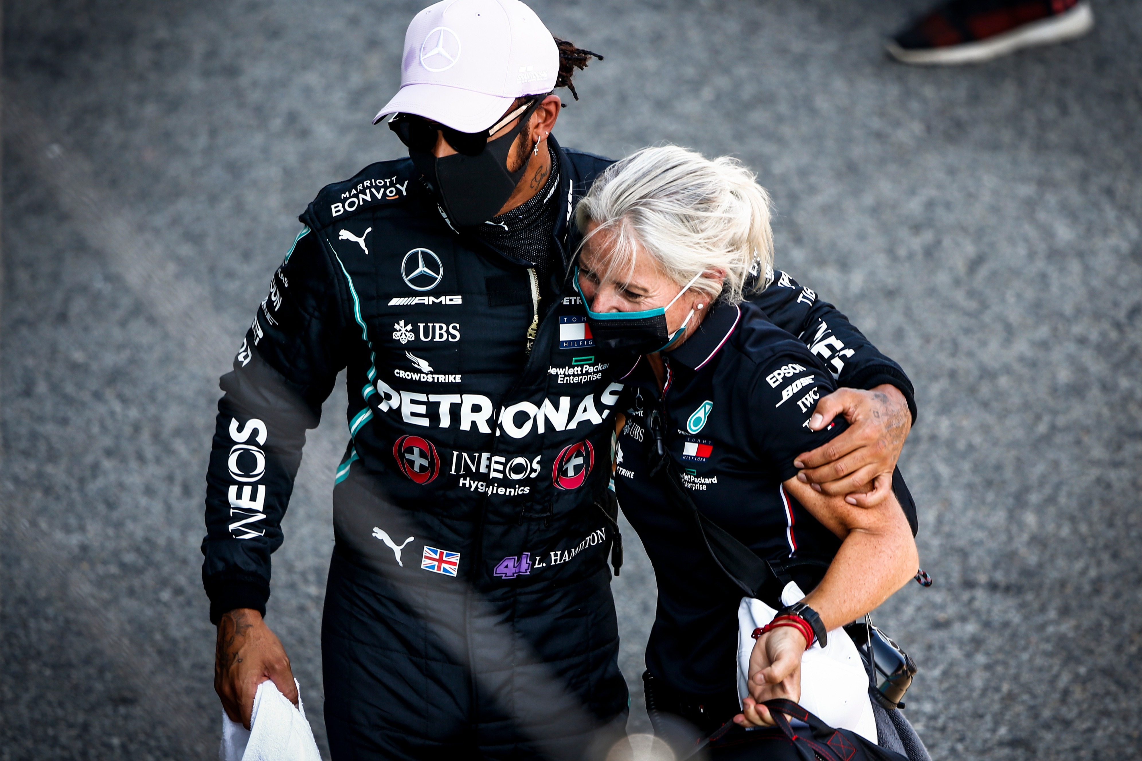 Lewis Hamilton with Angela Cullen
